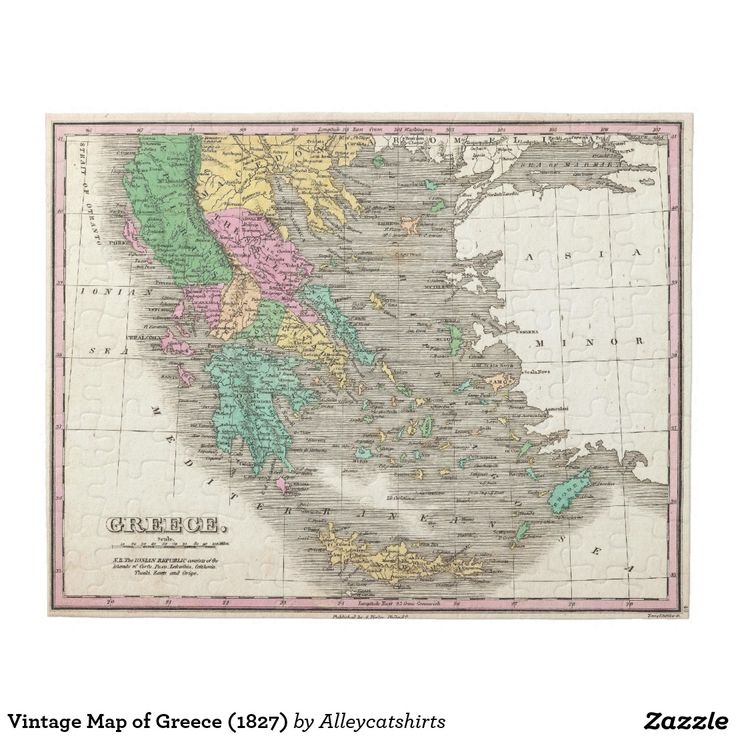 154 best jigsaw puzzles images on pinterest jigsaw puzzles shop vintage map of greece jigsaw puzzle created by alleycatshirts gumiabroncs Image collections