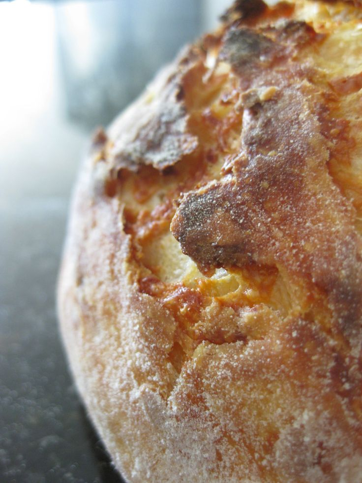 Crusty bread, Easiest bread recipe ever! Make the night before, let it rise over