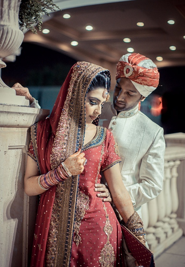 Beautiful Bollywood Style Indian Wedding Bride Marriage Shadi Groom India Couple