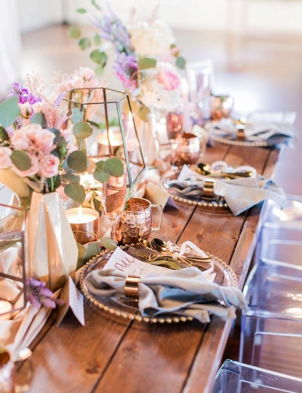 Romantic modern tablescape on Every Last Detail