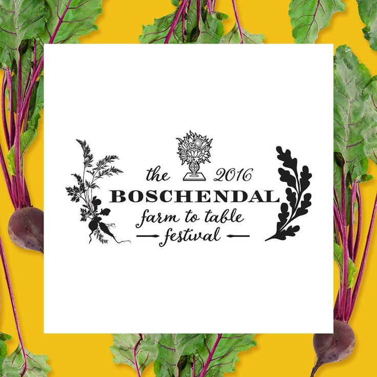 Logo and brand design for the Boschendal Farm to Table Festival