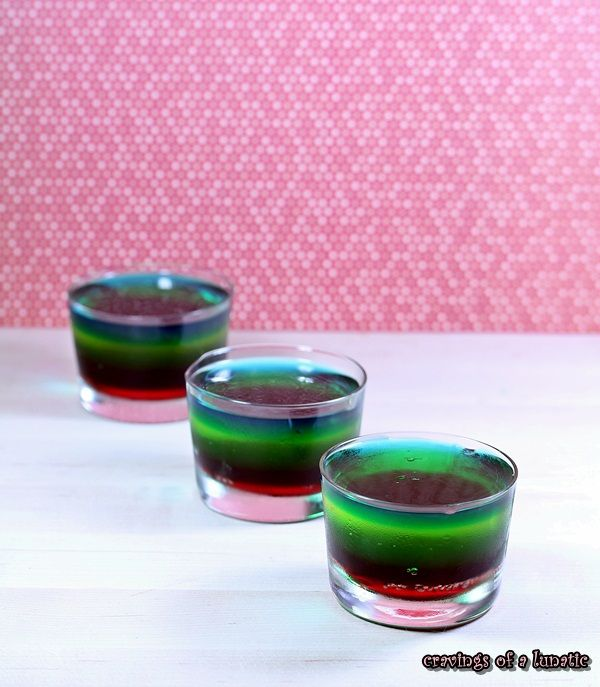 Rainbow Jello from Cravings of a Lunatic