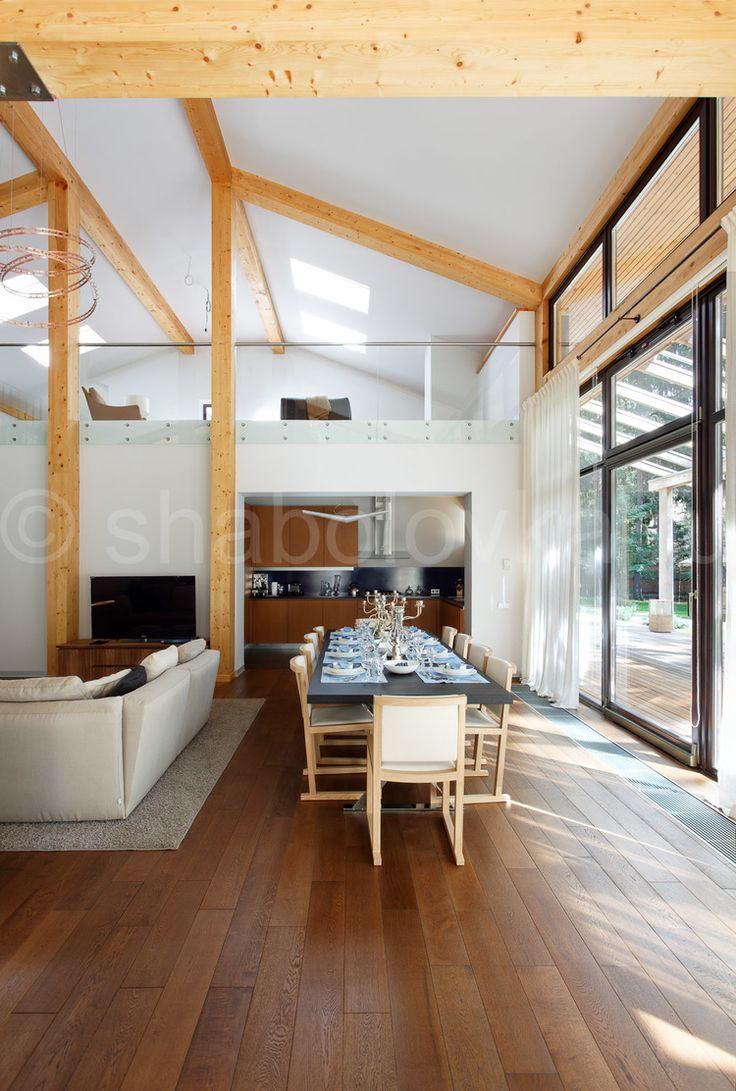 Интерьер современного загородного дома. Modern house interior.