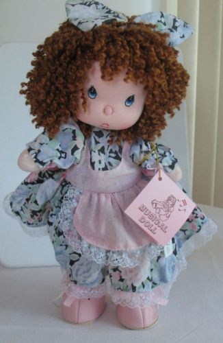 """Musical Girls Wind-up Doll Plays Music Animated Key Its a Small World 11"""" New #Gifts"""