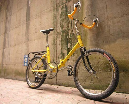 Bee-cycle front view by lorenzo.parma, via Flickr    crono graziella folding bike