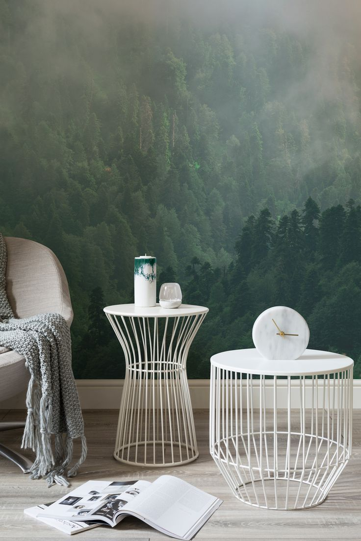 Escape to nature with this forest wall mural. Captivating views of unfolding forests help to create calm in your home.