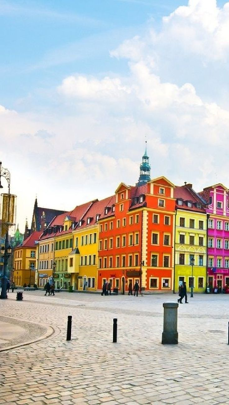 Top 10 Most Colorful Places In The World Wroclaw - Poland  Hosts of the FIVB Volleyball Men's World Championships 2014 http://poland2014.fivb.org/en/host%20cities/wroclaw