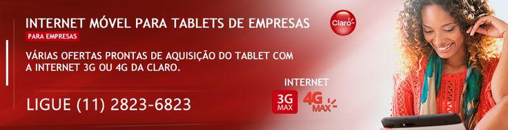 Internet móvel para tablets : Confira planos de internet para tablets com as ofertas Combo da Claro, combinação da aquisição do aparelho mais internet. Informações ligue (11) 2823-6823 #claro #claroempresas