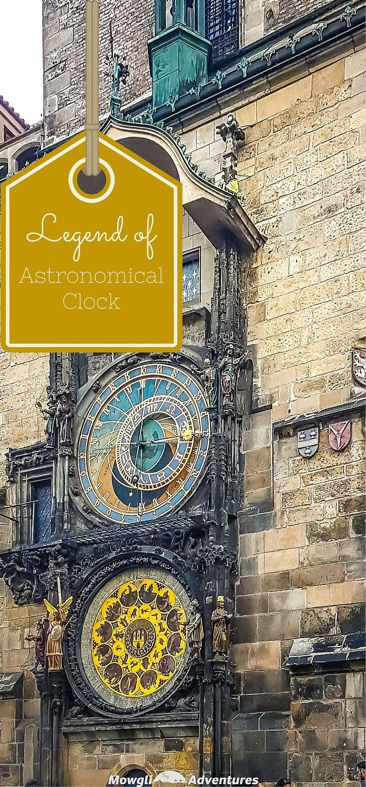 Prague's medieval Astronomical Clock is more than 6oo years old! The legend of the Astronomical Clock in Prague only adds to its charm!