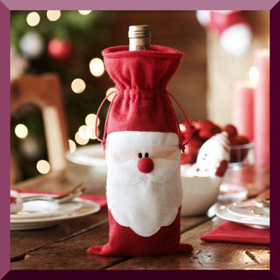 christmas wine bottle covers - Google Search
