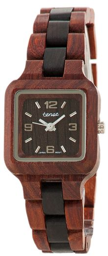 Woman's Wood Watch: This modern yet classic sport collection is one of our favorite line of watches.  Made of natural solid Sandalwood.  Sizable to fit all.    Features luminescent hands. Mini Summit - Model L7305SD ~ $135