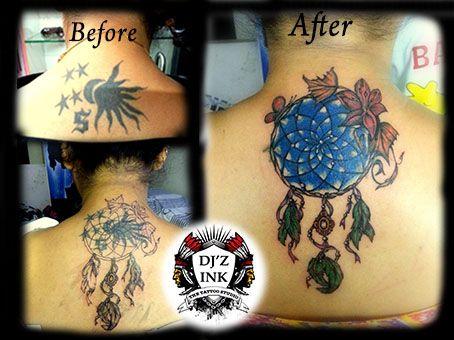 coverup dream catcher tattoo