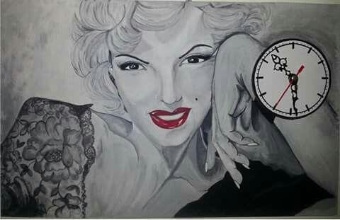 40*60 tuval guaj boya El boyama saat çalışıyor ilk yaptığım resimlerden biri kızım icin
