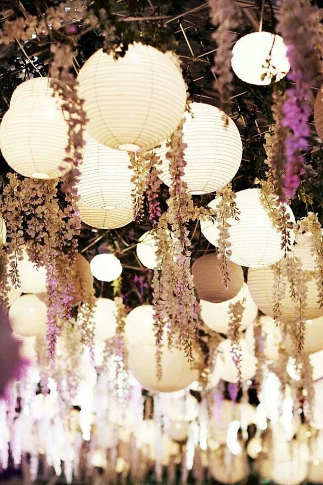Lighting idea for wedding reception. #outdoor #weddings #lighting