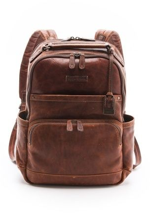 Frye Logan Backpack brown leather backpack