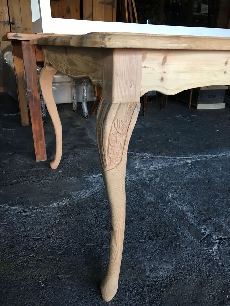 Detail of French Style table: Acanthus leaf carving #Reclaimed #Wood #Origon #Johannesburg