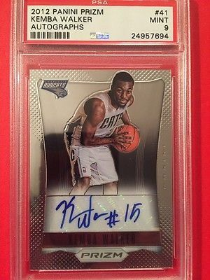 cool KEMBA WALKER 2012-13 PSA MINT 9 AUTO PANINI PRIZM Rookie Rc - For Sale