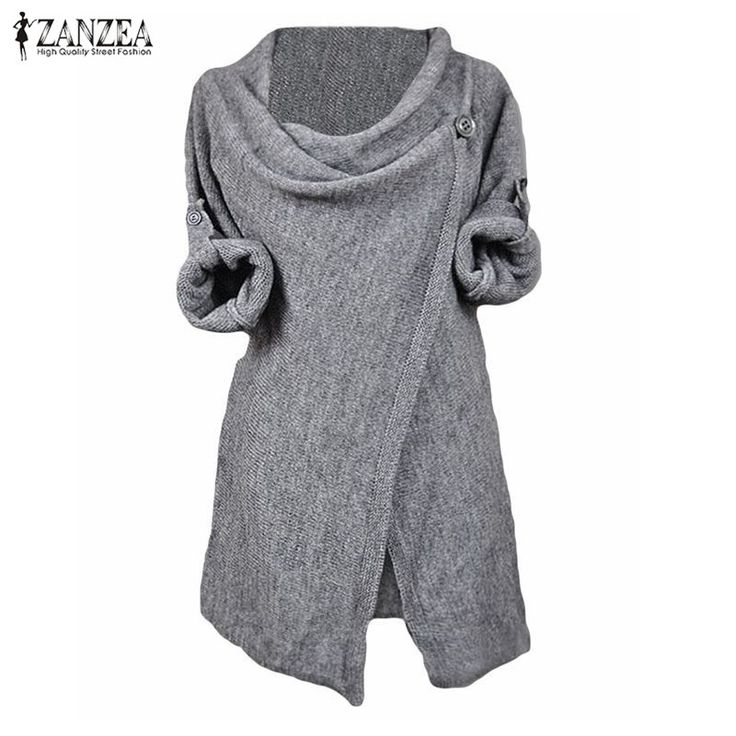 Oversized 2017 Autumn Women Casual Loose Knitted Blouses Shirts Long Sleeve O Neck Pullovers Tops Plus Size Outwear Cardigan