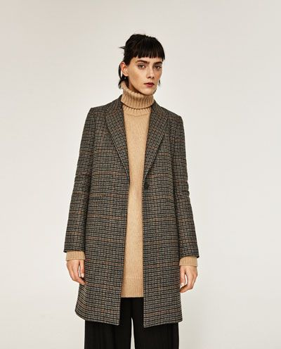 MASCULINE CHECKED COAT-Coats-OUTERWEAR-WOMAN | ZARA United Kingdom
