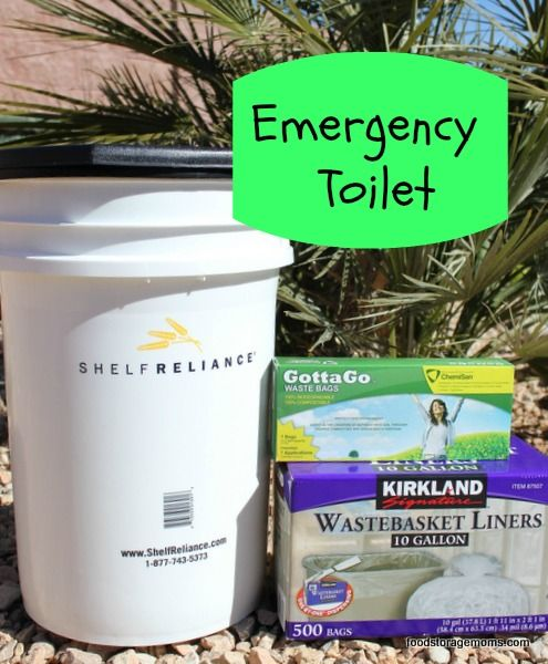 How To Be Prepared With An Emergency Toilet.  We've had the power go out so the pump also went.  This is a good idea that we used when I was a kid ( 50 years ago) when we went camping.