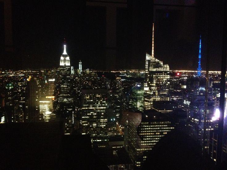 New York! Top of Rockerfeller Center!