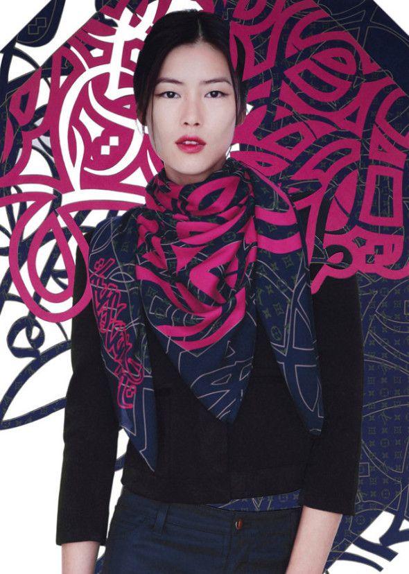 LOUIS VUITTON STREET ARTIST SCARF COLLAB, xliu-wen-lv-scarves