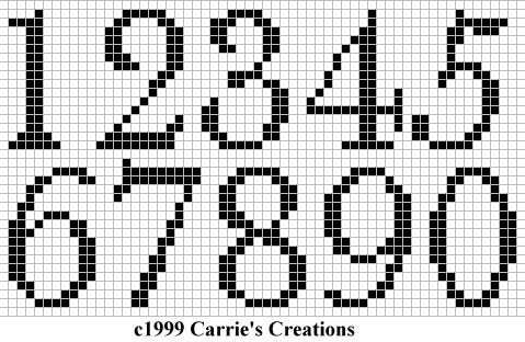 Cross stitch number pattern thinking of doing a cross stitch advent calendar for x-mas