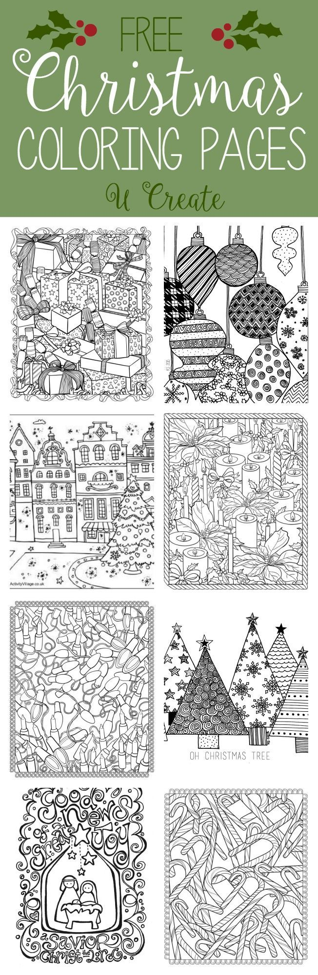 Pinterest christmas adult coloring pages - Free Christmas Adult Coloring Pages