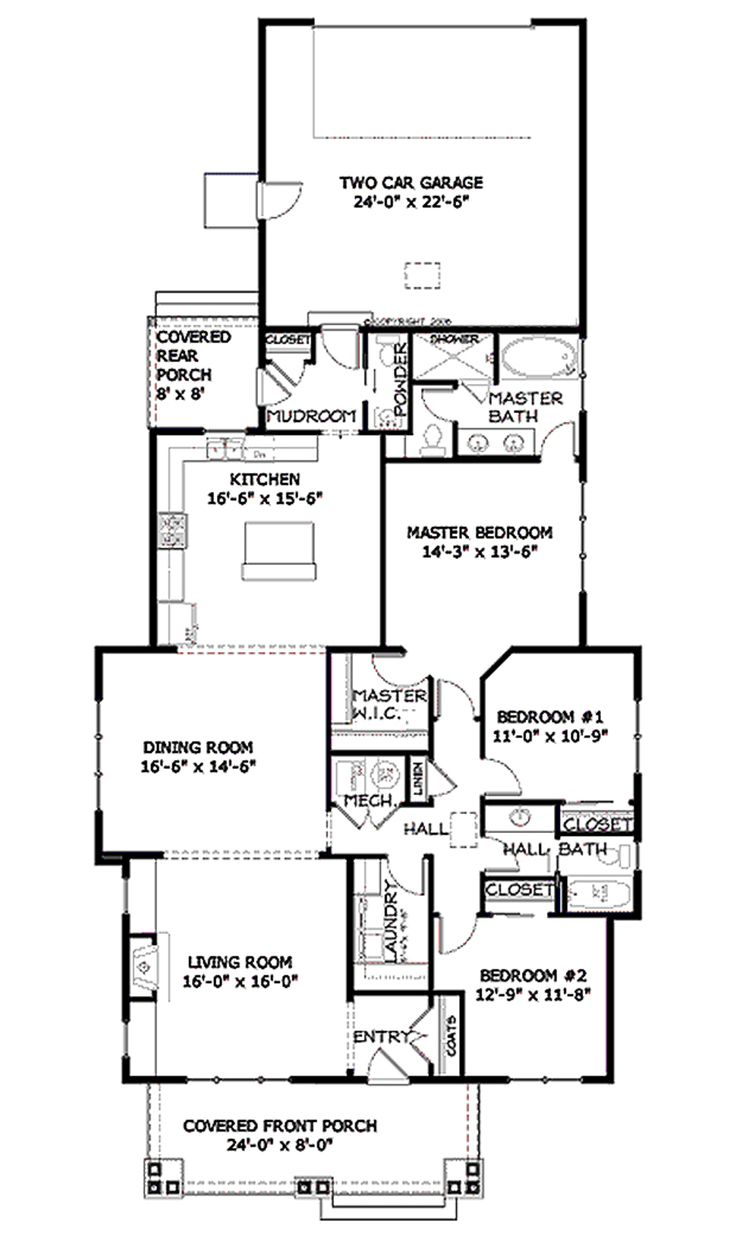 62 best house images on pinterest small house plans small bungalow style house plan 3 beds 2 5 baths 1915 sq ft plan 434