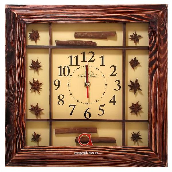 Настенные часы по оптовой цене АВАНГАРД 1Д2 бадьян-корица (дерев) - в наличии на складе, оптом от производителя