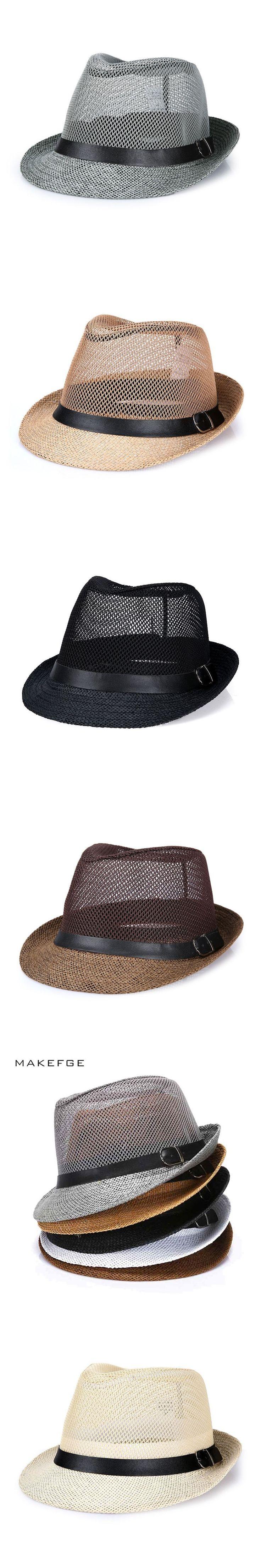 cuban style hats  Fashion Mens Summer Jazz Hat Breathable Casual Floppy Jazz Hat for Men and Women Popular Black Fedora Cap #HatsForWomenFloppy