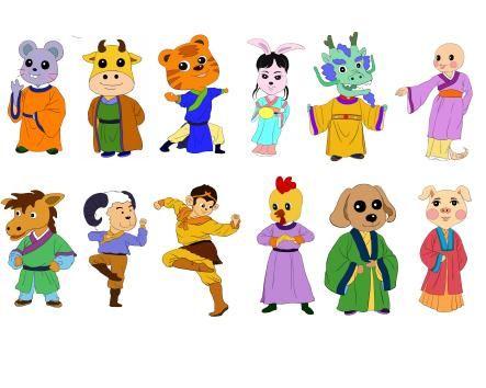 Sagan om de tolv djuren i den kinesiska zodiaken