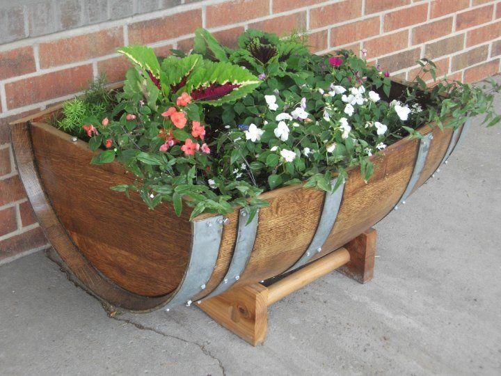 17 best images about diy barrel ideas on pinterest wine for Diy wine barrel planter