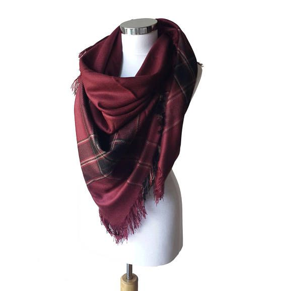 Oversize Blanket Scarf or Shawl It is perfect for Fall, Winter and Spring. So soft, so trendy! Neck Warmer, Women Fashion Accessories, long wrap scarf, Gift idea, Wool Fabric, blanket fringe scarf - trending Item Winter Accessories - Unisex Scarf unique gift under 30  Wool + cotton +