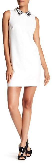 Trina Turk Marta 2 Embellished Collar Sleeveless Dress