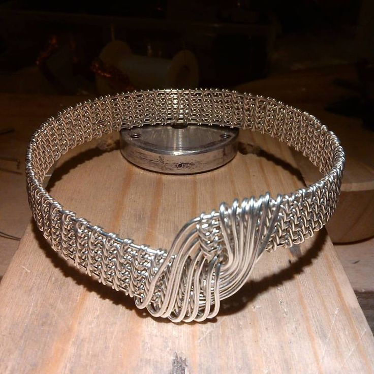 Silver plated copper bangle. Wire woven bracelet #copper #bracelet #copperjewelry