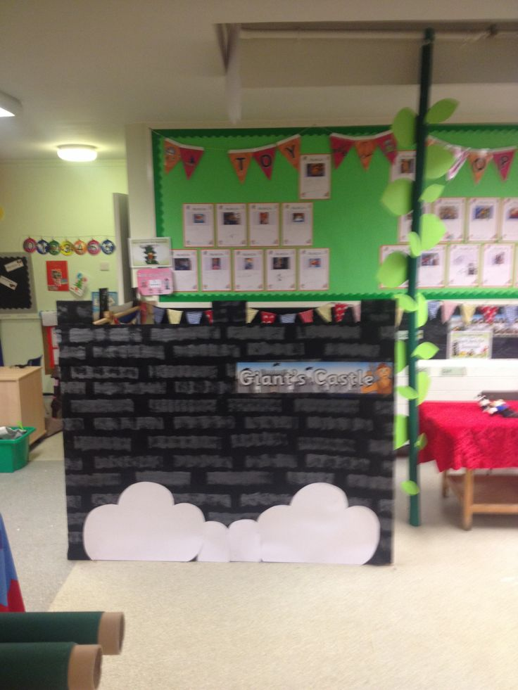 Classroom Environment Ideas ~ Giants castle role play for jack and the bean stalk