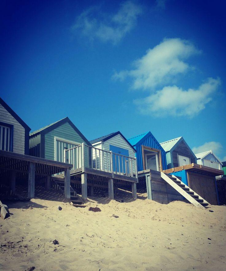 Abersoch beach huts. August Bank holiday 2016