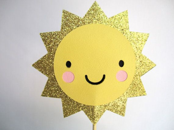 Sun Cake Topper  You are my Sunshine / Birthday / by Oodalollie