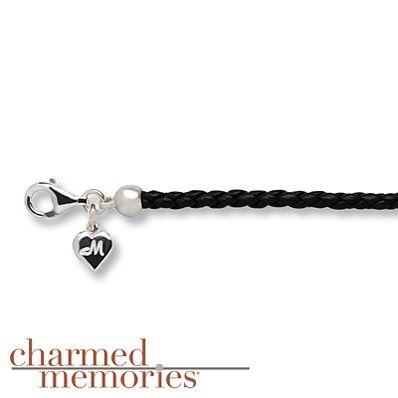 "Charmed Memories 7.5"" Charm Bracelet Leather/Sterling Silver"