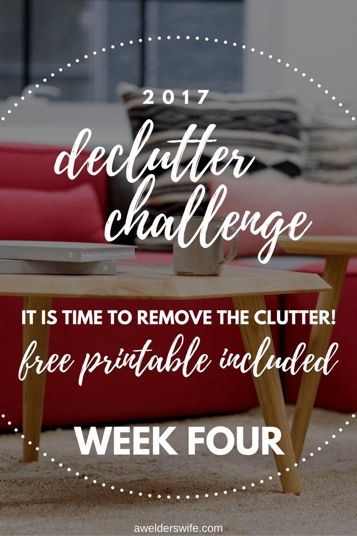 2017 Declutter Challenge: Week Four + Week Three Recap | www.awelderswife.com