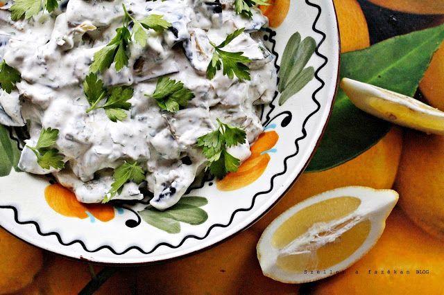 Joghurtos török padlizsánsaláta