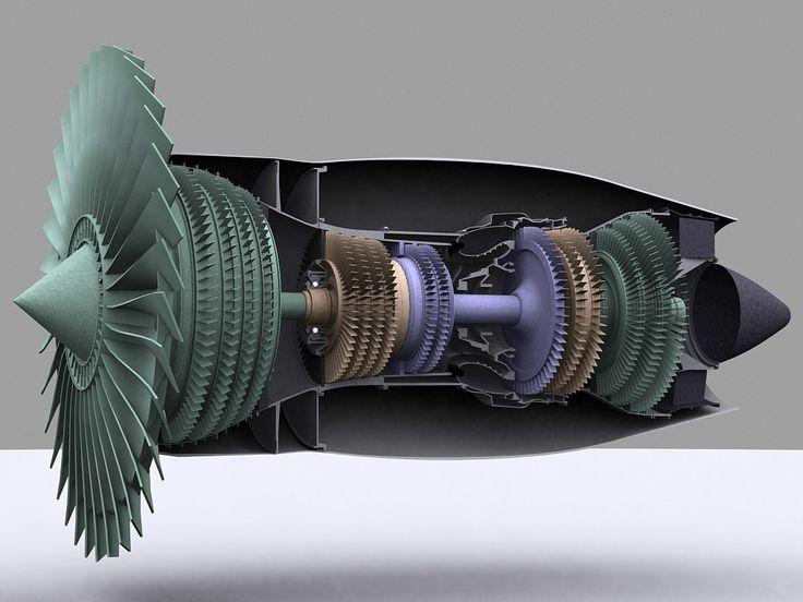 3d turbofan engine