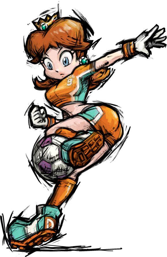 Games: Mario Strikers Charged – O futebol apelão da Nintendo PIPOCA COM BACON #PipocaComBacon mario_strikers_daisy