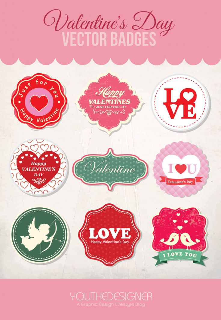 Save yourself the trouble ;) 9 Free Valentine's Day Vector Badges