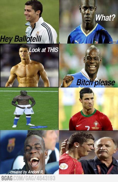 Balotelli vs Cristiano Ronaldo