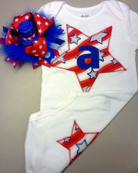 newborn girl 4th of july clothes