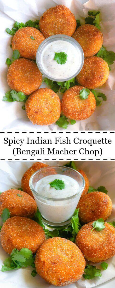 Spicy Indian Fish Croquette (Bengali Macher Chop) : #fish #croquette #bengali #recipe