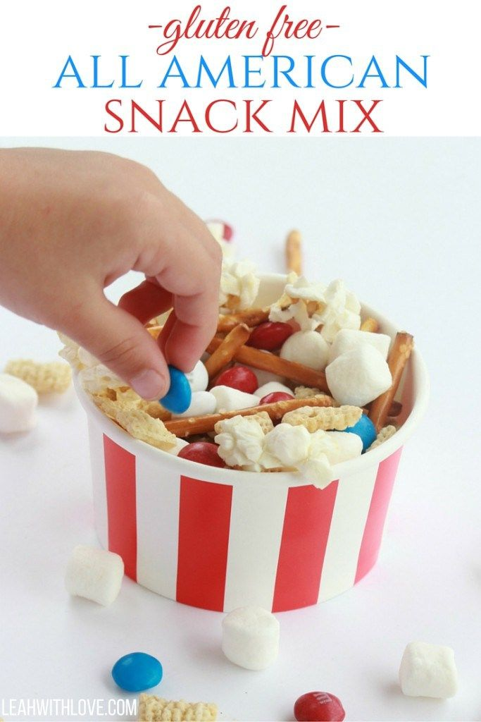 Gluten Free All American Snack Mix- delicious, perfect for parties and sure to be a hit with kids and adults!