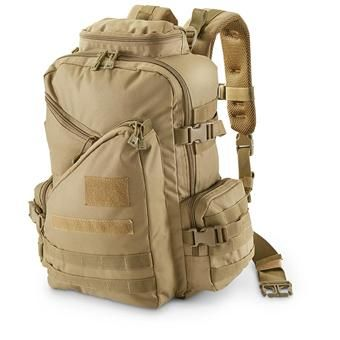 U.S. Spec Tactical Assault Military Surplus Backpack - Organization and comfort are built into this U.S. Spec Tactical assault go-anywhere pack. Its back panel and shoulder straps are padded for the long haul. Available in multiple colors!      * Padded back and straps with mesh     * Sternum strap with elastic     * Top area for goggles, electronics     * 4 outer pockets for organization     * Hydration / laptop sleeve     * Mesh zippered map pocket     * Compression straps secure load